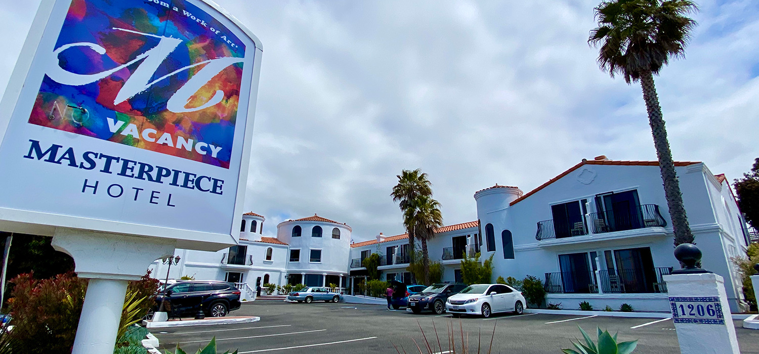WELCOME TO THE MASTERPIECE HOTEL IN MORRO BAY, CALIFORNIA